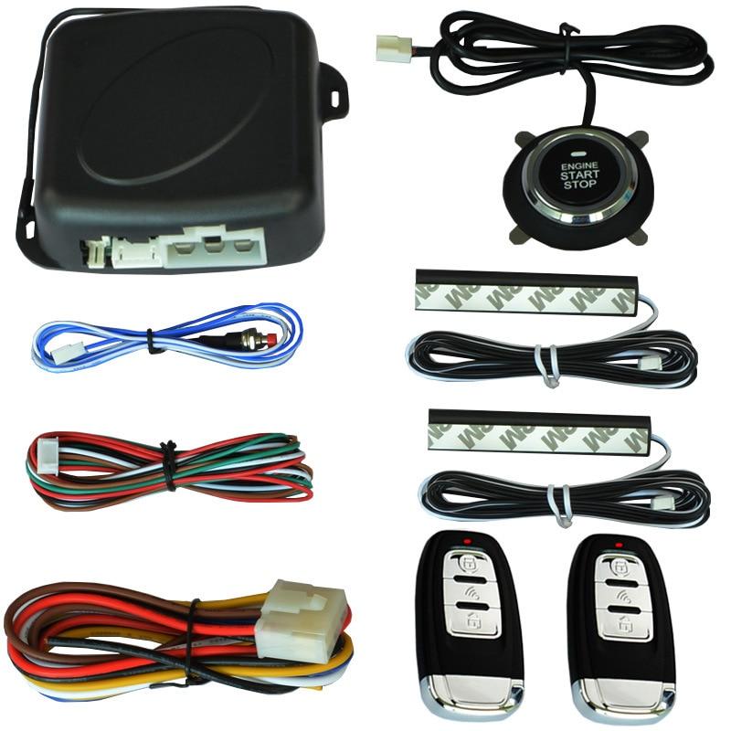 Auto voiture un démarrage arrêt moteur système avec télécommande voiture PKE système d'entrée sans clé démarrage bouton d'arrêt pour 12 V SUV RFID lock - 6