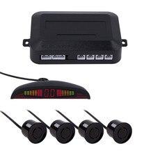 Водить автомобиль Дисплей парковка Сенсор комплект нескольких Цвет с 4 Датчики обратный резервный радар Системы для большинства автомобилей