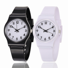 Children Multi Colors Rubber Band Watches Kids Quartz Wristwatch Child Girls