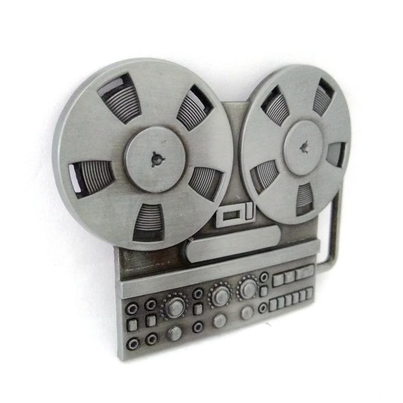 Музыкальная серия Vinatge reel to reel recorder, металлическая пряжка для ремня, Мужская большая пряжка для ремней, аксессуары, розничная, на заказ, зажим для ремня