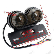 Motorcycle Accessories LED Twin Dual Tail Turn Signal Brake License Plate Integrated Light For Bobber Cafe Racer ATV Chopper