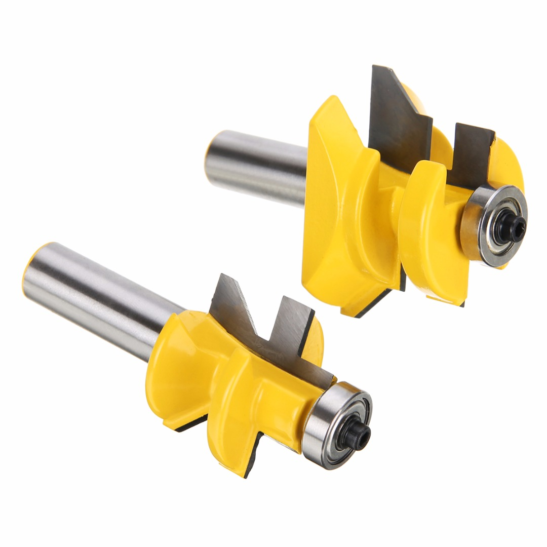 2pcs 45 Degree Tongue & Groove Router Bit V-Joint V-notch 1/2  x 1-1/8 Router Bit Set For Woodworking Tool 2pcs tongue
