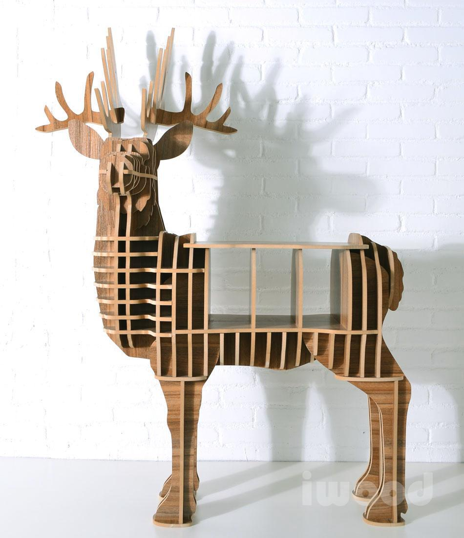 Deer puzzle table animal multi purpose furniture mdf for Homemade mdf furniture