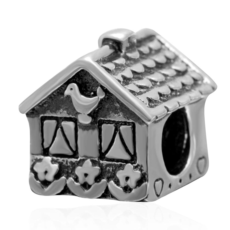 Original 925 Sterling Silver LOVE house charm diy jewelry making Fits for Pandora Bracelets free shipping бижутерия pandora 925 790122
