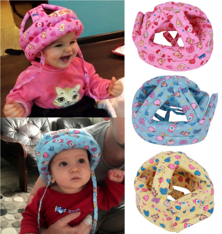 Baby Toddler Cap Anti-collision Protective Hat Baby Safety Helmet Soft Comfortable Head Security&Protection Adjustable オフショル 水着 花 柄
