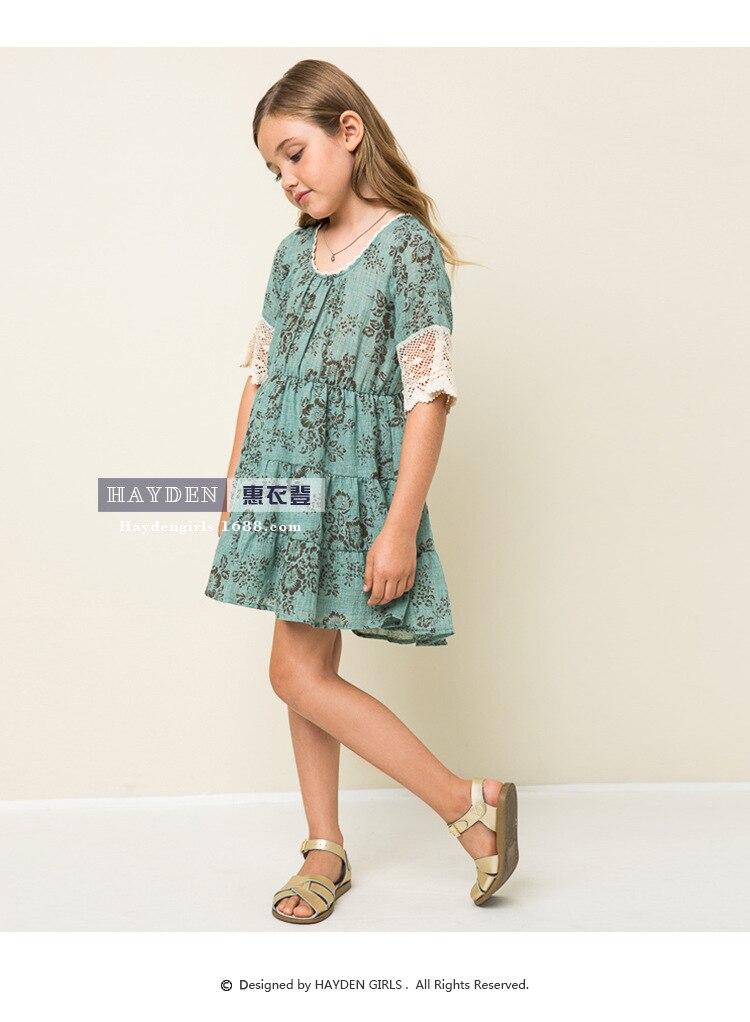 Christmas 2016 Big Kids Girls Vintage Floral Crochet Lace Dresses ...