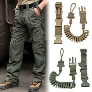 Image 3 - Durable Elastic Outdoor Tactical Safety Lanyard Quick Release Belt Extension type Sling Adjustable Belt Combat Accessories
