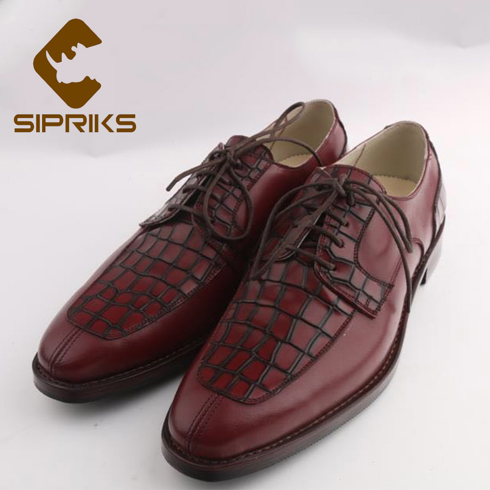 bbb17b559f2c5 Sipriks Luxury Italian Handmade Mens Goodyear Welted Shoes Boss Business  Office Suits Gents Shoes Large Size