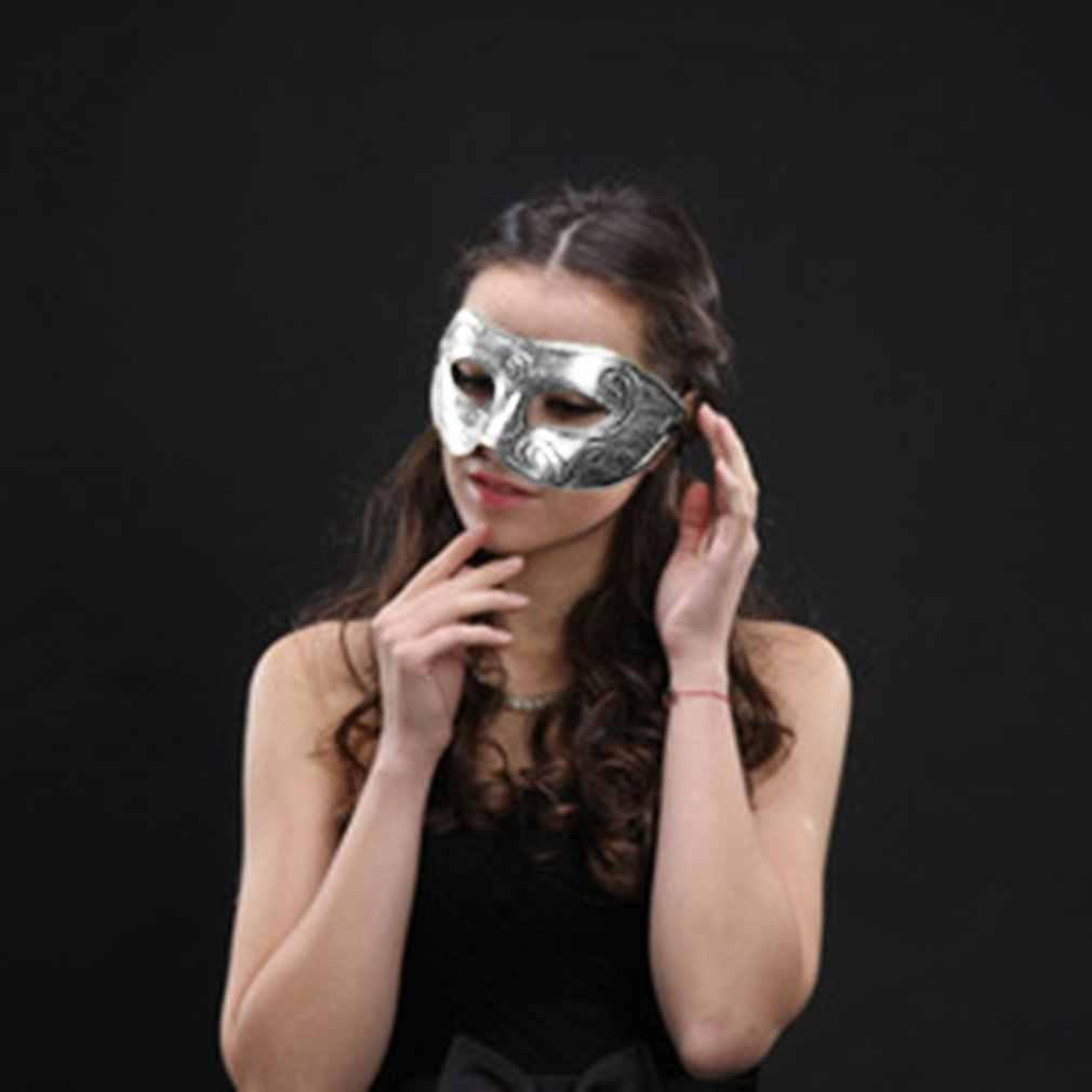 1 Uds gran oferta máscara de baile de disfraces para hombres y mujeres para fiesta veneciana máscara de ojos nuevo carnaval negro vestido de fantasía disfraz decoración de fiesta