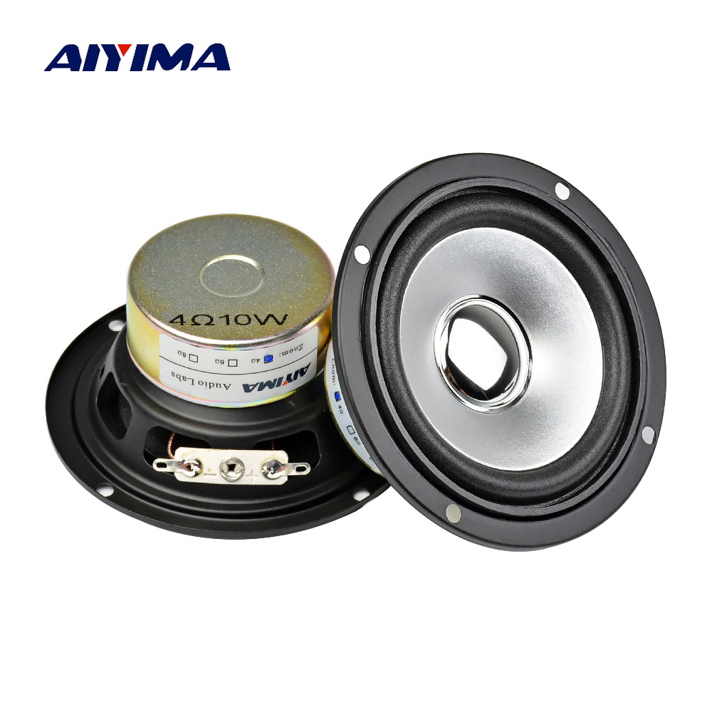 AIYIMA 2Pcs 3Inch 4 Ohm 10W Altoparlanti Full-Range Tweeter Altoparlante DIY HIFI Altoparlante Car Stereo Home Theater