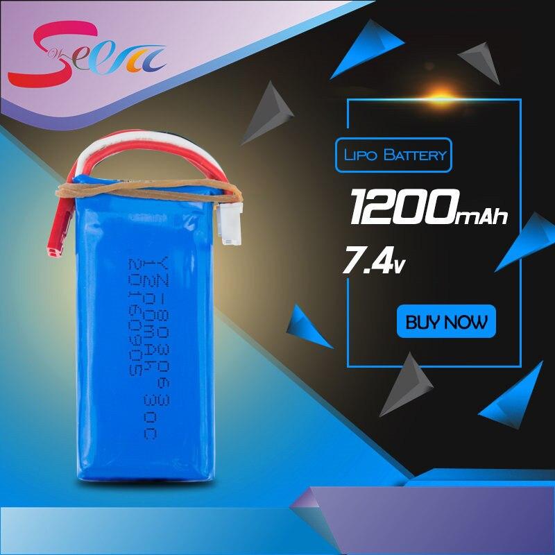 WL 7.4V 1200mAh 30C Lipo Battery For YiZhan Tarantula X6 MJX X101 X102h JJRC X1Brushless H16 WLtoys V666 V262 V353 V333 V323