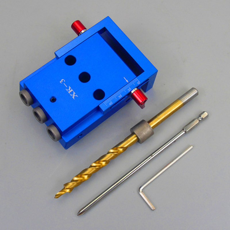 Working Punch Locator with Puncher Woodworking Tool Set Punching Tool Aluminium Alloy Oblique Hole Jig Kit System for Wood high strength and hardness professional tools aluminium alloy punch locator woodworking tool z35