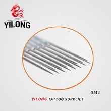 (5M1) 50PCS Professional Tattoo Needles Single Magnum Sterilize Tattoo Needles Medical Stainless Steel Material