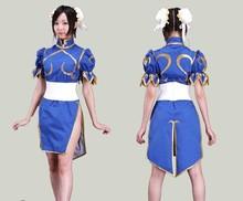 Disfraces de halloween para las mujeres ropa de anime street fighter chun li cosplay para niñas fancy dress costume juego cheongsam