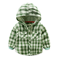 The baby shirt boys clothes cotton kids and Boys Plaid Shirt
