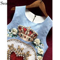 Luxurious Beading Crystal Dress 2