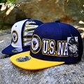 New Popular Flat Top Baseball Cap US Army NAVY Style Street Snapback Caps Outdoor Youth Street Hip Hop Hat Flat Top Baseball Cap