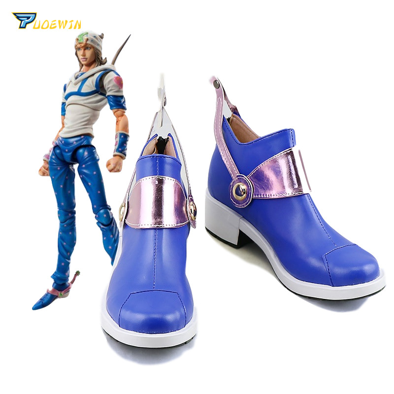 US $44 85 31% OFF|JoJo's Bizarre Adventure Johnny Joestar Blue Cosplay  Shoes Boots-in Shoes from Novelty & Special Use on Aliexpress com | Alibaba
