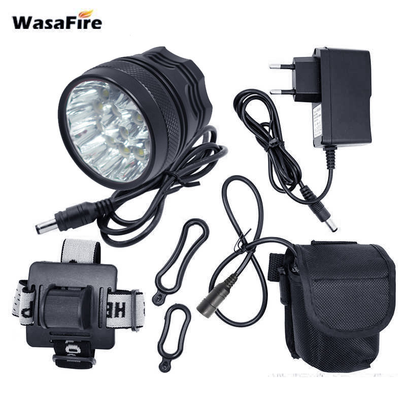 WasaFire 20000lm 15 T6 LED Light Bicycle Light Led Bike front Light with battery farol bike