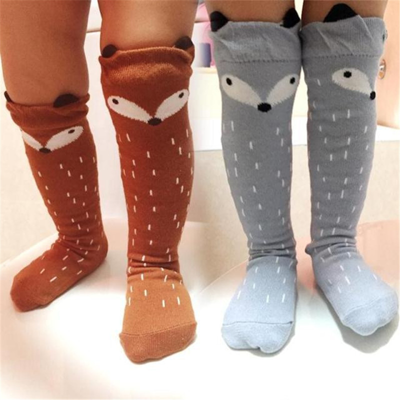 Fashion-Style-Girls-Tights-Cartoon-Toddler-Tights-Kids-Girls-Fox-Pattern-Knee-High-Socks-For-Age-0-6-Years-5