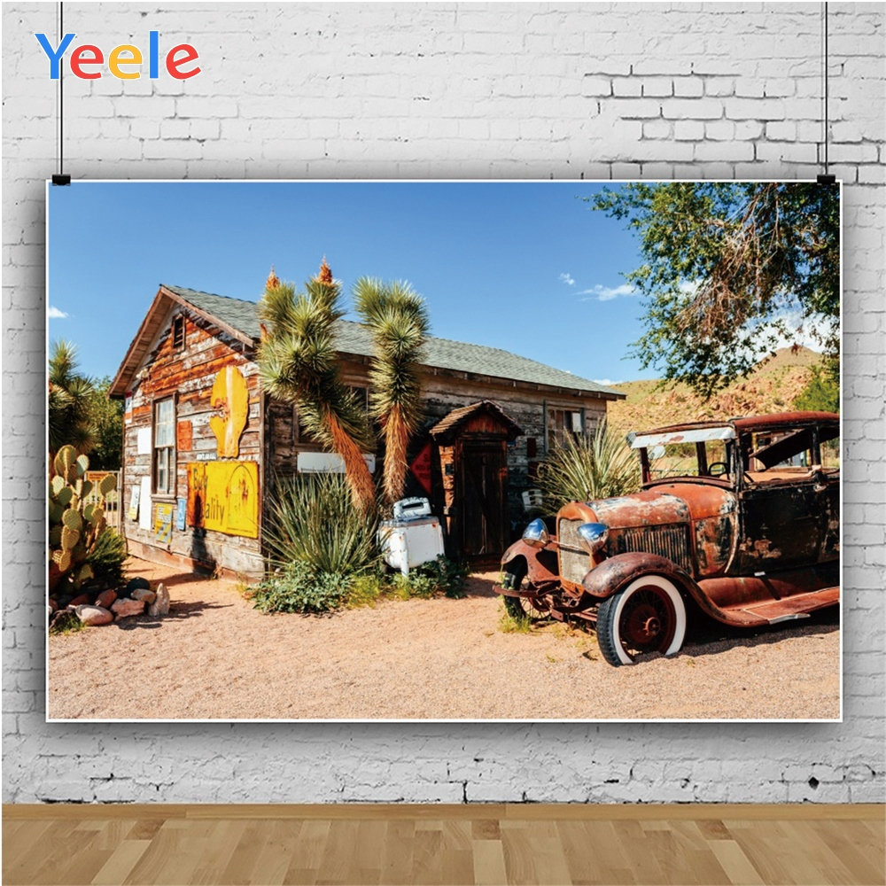 Yeele Landscape Patio Blue Sky Cloud Cactus Desert Photography Backdrops Personalized Photographic Backgrounds For Photo Studio in Background from Consumer Electronics