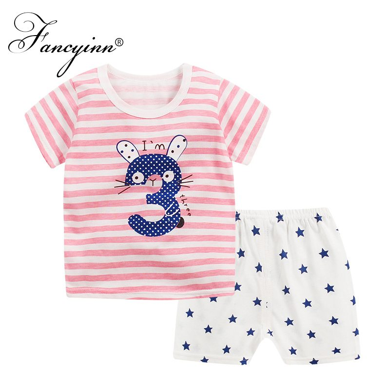 FANCYINN Cartoon Baby Boy Clothing Set Summer 2018 Infant Clothes Baby Girls Clothing Co ...