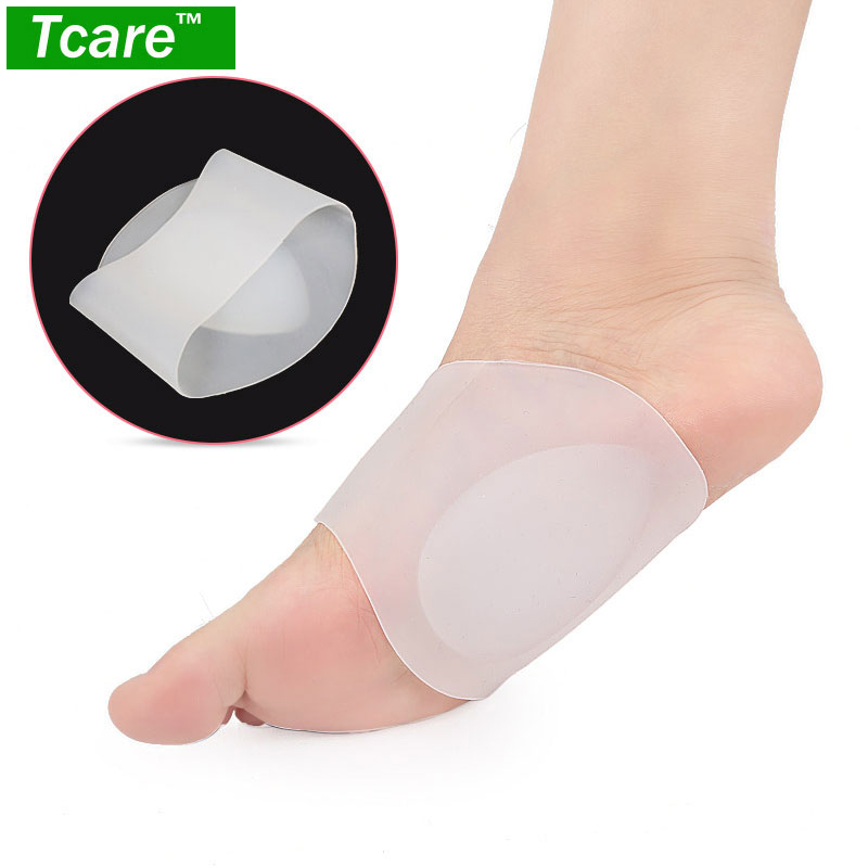 1Pair Gel Arch Support Soft Sleeves Cushion Elastic Silicone Band Fast Pain Relief for Flat Foot Plantar for Women & Men men elastic foot drawstring jeans