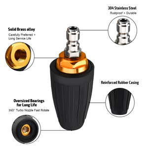 """Image 3 - 1/4"""" Rotating Spray Turbo Nozzle High Pressure Power Washer 360 Degree Turbo Nozzle Tips 3600 PSI Car Cleaning"""
