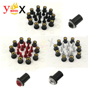 Image 2 - Kit de parafusos de pára brisa de 5mm, parafusos de parafuso para suzuki katana gsxr 600 GSX R750 gsxr1000 baneditor gsf650s 1200 com 10 peças s s