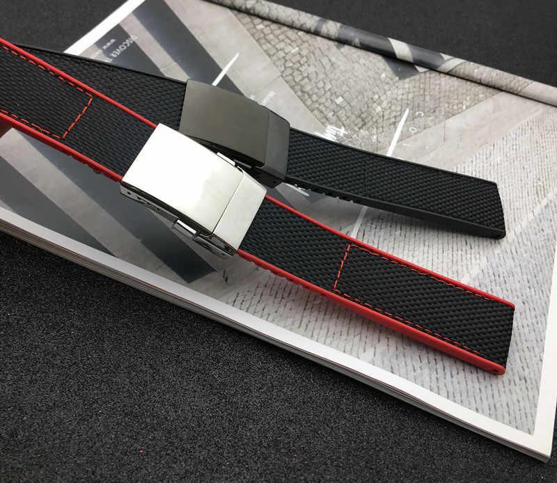 Correa de reloj de nailon para Breitling correa para NAVITIMER WORLD Avenger/navitimer Correa 22mm hebilla negro amarillo rojo azul herramienta