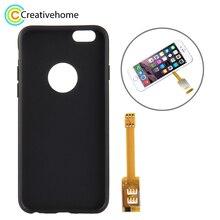 Brand New Dual SIM Card Adapter met een Case Cover Voor iPhone 6/iPhone 6 s