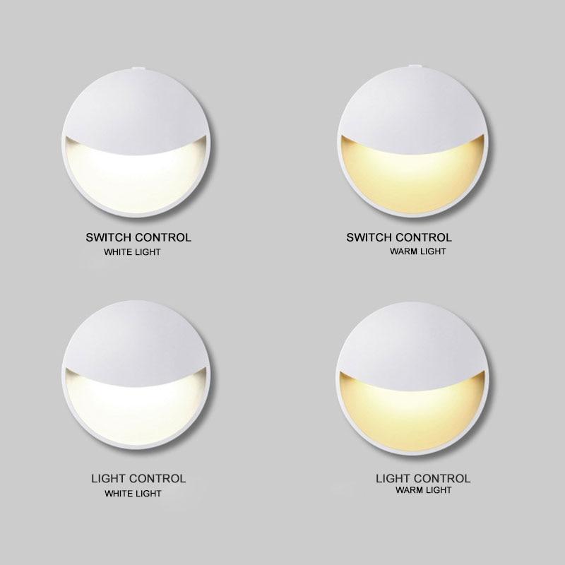 Smart LED Motion Sensor Night Light Battery Powered Night Lamp Safety For Bedroom Home Decoration Toilet Light