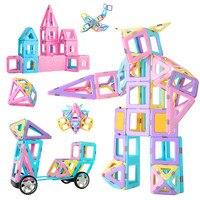 138 шт. магнитных блоков Строительство игрушки для детей Магнитный конструктор модель DIY магнит игрушки подарки для мальчиков