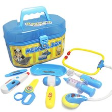 Children Pretend Play Doctor Nurse Toy Set Portable Suitcase Medical Kit Kids Educational Role Play Learning Toys(China)