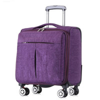 Waterproof Oxford Cloth 18 Inch Luggage Bag Trolley Travel Suitcase with Aluminum Rod Spinner Wheels Carry ons Men Baggage Bags