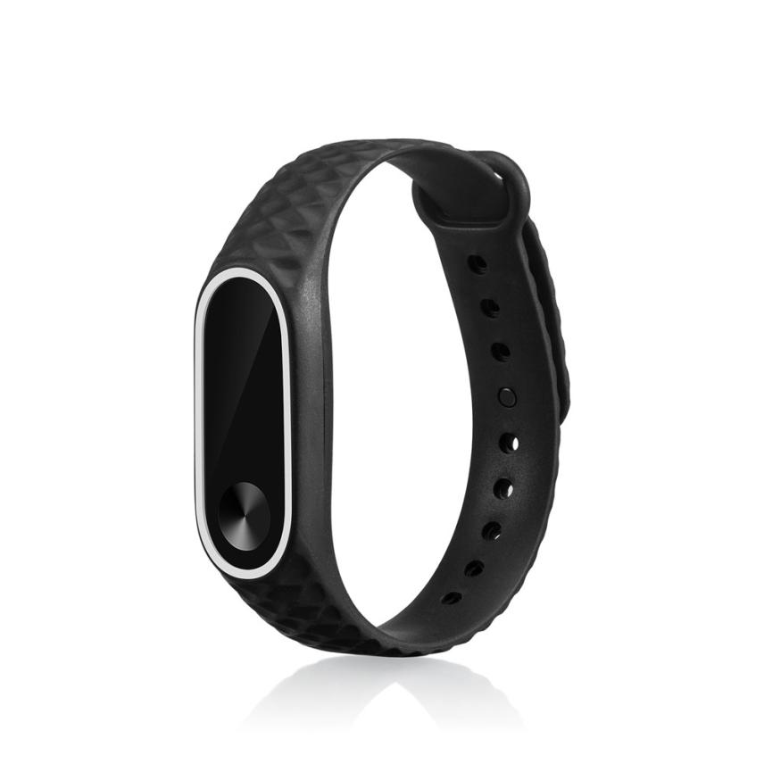 13mm Replacement Silicone Watch Bracelet Band Wrist Strap For Xiaomi Mi Band 2
