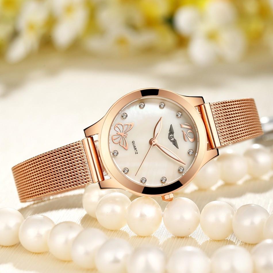 GUANQIN Women Watches Fashion Casual Quartz Watch Gold Women Bracelet Watch Stainless Steel Strap relogio feminino famous brand  (8)