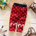 M&F Baby Girls Leggings Fashion Winter Warm Children Pants Brand New Cotton Velvet Trousers For Infant 4-24 Months Girls