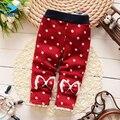 M & F Do Bebê Meninas Leggings Calças Crianças Marca de Moda Inverno Quente Novas Calças de Veludo de Algodão Para Infantil 4-24 Meses Meninas