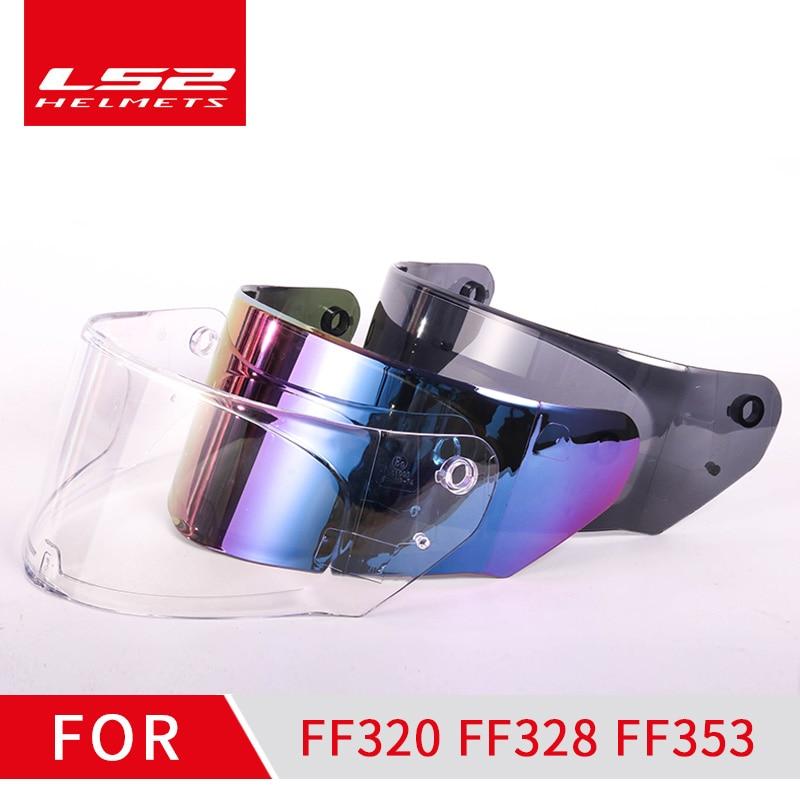 LS2 Ff320 Helmet Visor Suitable For LS2 FF320 FF328 FF353 Model Transparent Smoke Colorful Helmet Lens No Pinlock Hole