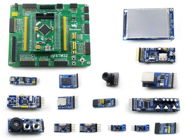 "STM32F407VET6 STM32F407 development board + 3.2 ""LCD Da Câmera + 14 módulos"