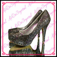 Deals Aidocrystal handmade shut toe marriage ceremony get together black crystal women excessive heel costume sneakers dimension 36-44