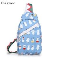 Foikvoon нейлоновая сумка на грудь Женская 2018 новая Корейская версия печати плечо диагональ женская сумка на открытом воздухе женские дорожные