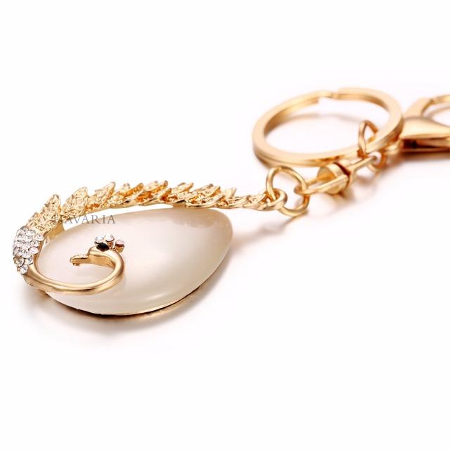 HAVcb- ARIA Rhinestone Peacock Key Chain or Hand Bag Pendant