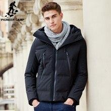 Pioneer Лагерь зима утка пуховик мужчин бренд одежда мужской толстовка с капюшоном вниз пальто мода повседневная высокое качество теплая куртка 611631