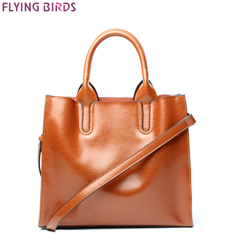 FLYING BIRDS Genuine Leather handbag famous brands Women's bag Designer Crossbody Bags High Quality tote Shoulder Messenger Bag high quality authentic famous polo golf double clothing bag men travel golf shoes bag custom handbag large capacity45 26 34 cm