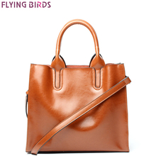 FLYING BIRDS Genuine Leather handbag famous brands Women's bag Designer Crossbody Bags High Quality tote Shoulder Messenger Bag