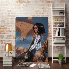 Alita Battle Angel Anime Poster Canvas Painting Print Living Room Home Decor Modern Wall Art Oil Painting Salon Pictures Artwork цены