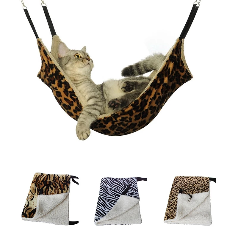 Hanging Cat Hammock Pet Supplies Cat Sleeping Bag Pet Cat Cage Breathable Double-sided Available Warm Cat Bed Mat 1