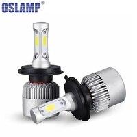 Oslamp LED Car Headlight H4 Hi Lo Beam COB Auto Led Headlight Bulb 6500K Headlamp For